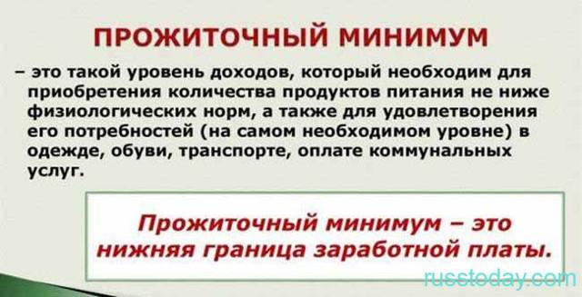 Прожиточный минимум на ребенка в России в 2020 году
