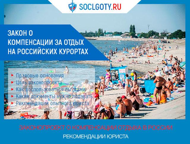Как получить компенсацию за отдых на российских курортах в 2020 году